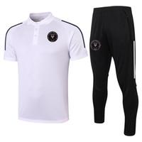 2021 Inter Miami CF Manica corta Polo Set Set di allenamento di calcio Suit Sport Jerseys Adulti Polos Adulti Polos e pantaloni da calcio Kit Tute da uomo