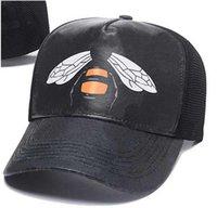 2021 diseñador al por mayor para hombre gorras de béisbol marca tigre cabeza sombreros abeja serpiente bordado hueso hombres mujeres casquette sol gorras deportes gorro de malla