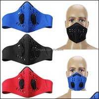 Equipment Tactical Gearwholesale- Anti-Pollution Pm2.5 Filter Two Exhale Vaes Bike Bicycle Half Dustproof Activated Carbon Cycling Face Mask