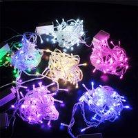 Cuerdas LED luces de Navidad 33ft 66ft 100/200 LEDs Twinkle Fairy Light Rojo Azul Verde Colorido Fiesta De Boda En stock