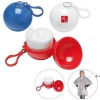 Nova bola de chuva esférica plástica de plástico chaveiro descartável portátil de chuva de chuva de chuva de chuva de viagem de viagem de viagem Rain Rain casaco Promoção Presente FWE9279