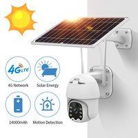 Cameras 1080P 4G Solar Powered Wireless Security WIFI Camera Outdoor PTZ Human Detection Rechargeable Battery Waterproof Cam