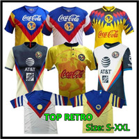 20 21 Club America Soccer Jerseys Startseite 2020 2021 Liga MX Club America Retro Fussball Jersey 93 94 95 96 99 Football Hemden
