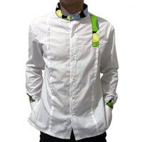 Новые весенние осенние рубашки мужские этнические африканские принт повседневные длинные рукава модные платья рубашки тренд мужчина dashiki одежда1
