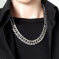 Chains 5 6 7mm Mens Women Stainless Steel Curb Cuban Necklace Chain High Quality Punk Biker Link Heavy Jewelry Gift