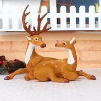Factory Outlet Party Decoration Lovers de Noël Deer Décorations d'arbres Simulés Mascot Sika Deer Scène de la fenêtre Creative Elk Ornements