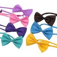 19 colori Pet Leg Tie Tie Collar Accessori Flower Decorazione Forniture Pure Color Bowknot Cravatta EEB5603