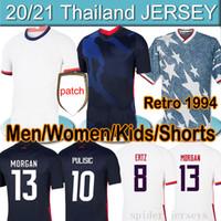 4 stars 2020 2021 Pulisic Reyna 축구 남자 여성 키트 유니폼 Dest McKennie Lloyd Morgan America Football 미국 셔츠