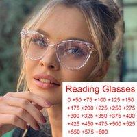Pronto-feita de gato transparente Óculos de leitura de olho senhoras 2021 anti azul luz óculos moda jogo pontos mais 0 a 6 oculo