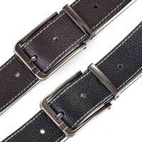 Cintura formale per pantaloni da uomo in pelle da uomo