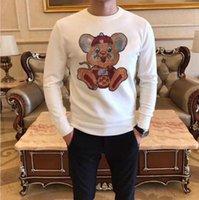 Top Qualität Pullover Männer Heißer Bohrer Pullover Neue Mode Lässige Pullover Herbst Winter Männer Kleidung Slim Fit Diamanten Dünne Desig