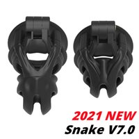 Massage Items New Mamba V7 3D EVO Cage Male Chastity Device Double-Arc Cuff Penis Ring Cobra Cock Sleeve Lock Belt Adult Sexy Toys For Men