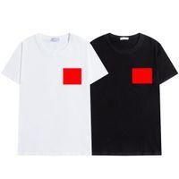 Hombre T Shirt Black White Fashion Casual Casual Simple Simple Teléfono de alta calidad Insignia de goma Diseñador de hombres Camiseta S-2XL