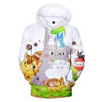 Anime Kawaii Artı Boyutu Hoodie Erkekler Kadınlar Çocuklar için Kapşonlu Sweatshirt Stüdyo Ghibli Hayao Omiyazaki Chihiro Ruhları Totor