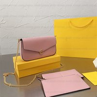 3 stück F Marke Luxus Designer Hobo Frauen Umhängetasche Mode Kette Tote Clutchtasche Crossbody Taschen Handtasche Pochette Felicie Abnehmbare Handtaschen Brieftasche Geldbörsen