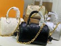 Дизайнер роскошный Speedy Bandouliere 22 M58631 черная золотая цепная ручка Crossbody женская сумка Empreinte кожаный размер: 22,0 х 13,0 х 17,0 см