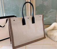 Bolsos de las mujeres Rive Gauche Bolsa de asas de la compra Bolso Bolso de moda de alta calidad Ropa de playa Grandes bolsas de playa Diseñador de lujo Bolsa de viaje