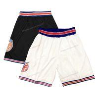 Schiff aus US Space Jam Basketball Shorts Tune Squad Herren Alle genähten weißen Schwarz Top Qualität