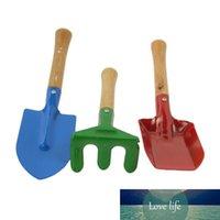 3 PCS / Set Mini Spade Shovel Harrow Maceta Herramientas Potted Plantas Mantenimiento Manera de madera Planta Planta Suelo Palas Herramientas de jardinería