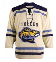 Toledo Walleye Ice Hockey Jersey Men's Embroidery Stitched Customize any number and name Jerseys