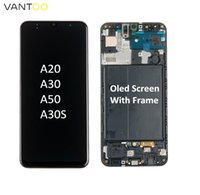 Premium OLED Screen LCD panels for Samsung Galaxy A20 A30 A50 A30S A50S Digitizer Assembly Pantalla replacement Without & With Frame