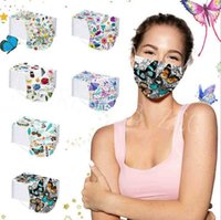 Designer Masks 3 Ply Disposable With Fashion Starry Sky Printing Face Mouth Cover Dustproof Party Protective Mask E579