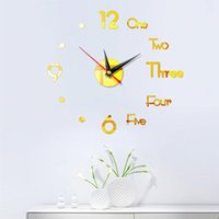 Wall Clocks Clock Modern DIY 3D Mirror Surface Adhesive Stickers Home Office Bedroom Living Room Art Decoration