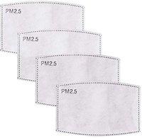2.Mask DHL-Scheitelschiff! Maske Atmungsaktive freie PM-Pad-Filter PM2.5 5 Papier für Haze Gesichtsmaske Aktivierter Kohlenstoff-Anti-Staub-Mund EU1