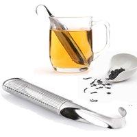 الفولاذ المقاوم للصدأ مصفاة الشاي مجموعة بسيطة شنقا مرشح أداة تلسكوبي الشاي تصفية الشاي صانع المطبخ اكسسوارات أداة OWA4034