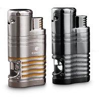 Cohiba 담배 라이터 4 토치 제트 불꽃 펀치 흡연 공구 액세서리 휴대용 가스 라이터
