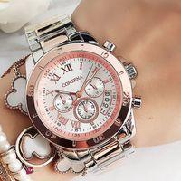 ZEGAREK DAMSKI MONTRE FEMME Damen Uhren Damen Quarzuhr Relogio Feminino Original Berühmte Marke CONTENA Geneva Watch 210310