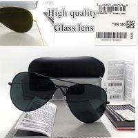 Высококачественные солнцезащитные очки из высококачественного стекла Мода Роскошные дизайнерские мужчины Женщины Покрытие UV400 Винтажные спортивные полит Солнцезащитные очки с коробкой и наклейкой