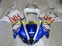 Injection Bodywork Fairings kit for YAMAHA YZF1000R1 YZF R1 2000 2001 fairing kits Cowling YZF-R1 00 01 Hogh Quality ABS Motorcycle Custom Gift White Blue