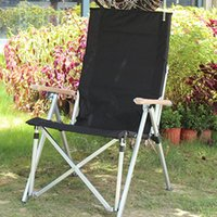 Camp Furniture Portable Folding Beach Chair Outdoor Adjustable Backrest Loungers For Camping Picnic Relaxation Patio Chairs