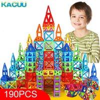 Kacuu 190pcs mini magnetic designer blocks modello edificio giocattolo plastica magnent giocattoli costruttore giocattoli educativi per bambini regalo Q0723