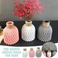Vases Plastic Home Decor Anti-ceramic Imitation Rattan Flower Vase European Wedding Modern Decorations Unbreakable Basket