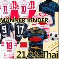 2021 2022 RB Leipzig football jerseys SZOBOSZLAI HEE-CHAN 20 21 RBL Jerseys de futebol Konate Sabitzer Kluivert Poulsen Halstenberg Homens + Kids Kits