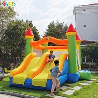 Novo Design tamanho grande Dual slide inflável combo salto casa bouncy castelo moonwak double side festa para crianças