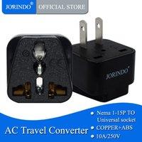 Smart Power Plugs JORINDO US Plug,American Standard 10A 250V CE Certified ABS Material Connector AU UK EU To Travel Conversion Plug Adaptor