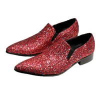2021 New Men Shoes Red Genuine Leather Men's Dress Shoes Fashion Men's Formal Party and Wedding Footwear Zapatos Hombre