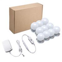 4 / 10pcs / 세트 미러 벽 램프 드레싱 테이블 10 전구 메이크업 전구 2W 키트 LED 허영 불빛