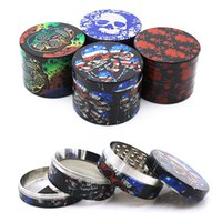 New creative package herb grinder pattern grinding device zinc alloy Cigarette Mill four layer flat plate grinding device printing manual cigarette crusher