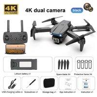 E99Pro Drone 4K Fotografía aérea de alta definición 4K Dual-Cámara Quadcopter Air Presión de aire Avión de control remoto de altitud K3 Juguete de regalo