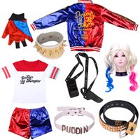 Theme Costume harley costumes quinn girl adult suit cosplay Suicide Team Monster T-Shirt Childrens Jacket Gloves Belt Accessories Anime Sets