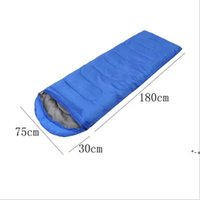 Envelope Outdoor Camping Adult Sleeping Bag Portable Ultra Light Travel Hiking Sleeping Bag With Cap HHE10417