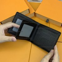 Hiqh Качество кошельки кошельки Мужские кошельки короткие кредитные карты Держатели парижской клетки Стиль мужчина мужчина женщин пакетная сумка небольшой бифльмовый кошельщик холст несколько с коробкой
