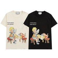 Moda de verano para hombre t shirts letra impresa casual hombres de la mejor calidad de las mujeres de la ropa de calle negro W8269