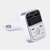 B2 블루투스 FM 송신기 핸즈프리 자동차 충전기 키트 MP3 플레이어 TF 플래시 음악 USB 3A 무선 헤드셋 오디오 변조기