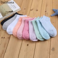 DaiShana 20pieces=10pair lot New Fashion Candy colored Sock Women Ankle Sock Funny Cute Boat Socks Casual Lady Girl Sokken Mujer