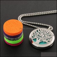 Pendants Arts, Crafts Home & Gardenessential Oil Diffuser Necklace Aromatherapy Pendant Fragrance Gifts For Girls Per Jewelry With Colorf Re